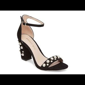 Madden Girl Pearl Studded Black Heels